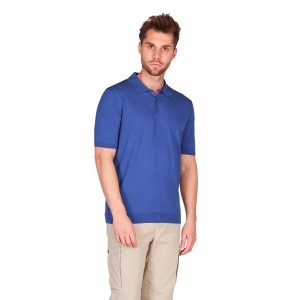 Polo cotone crepe finezza 18 royal