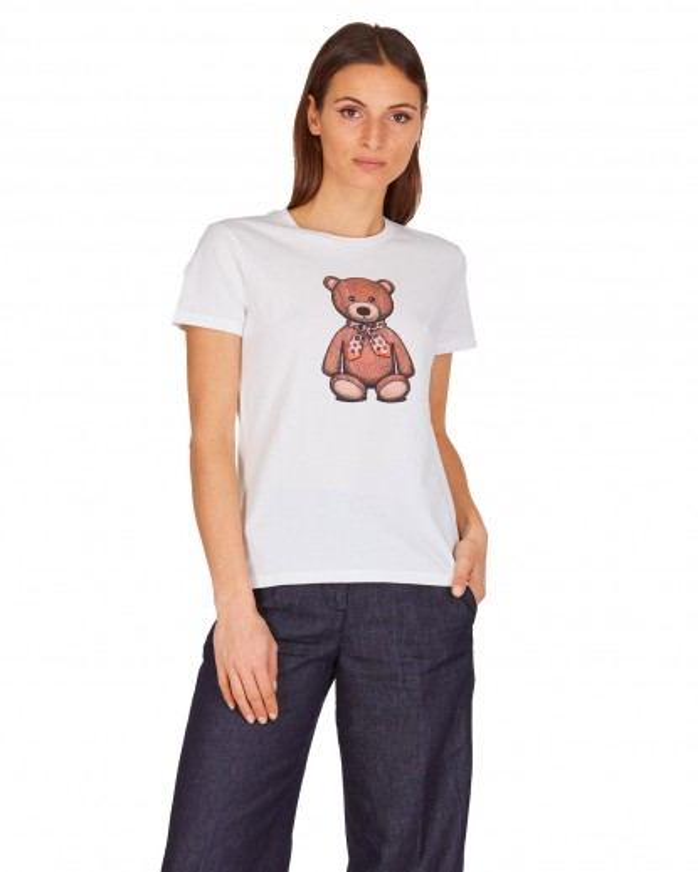 T-shirt con stampa orsetto
