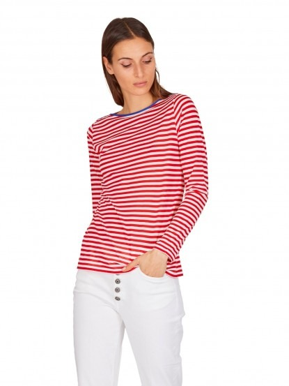 T-Shirt a righe rosse