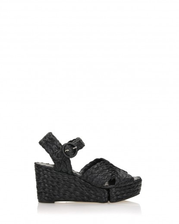 Sandalo in rafia nero
