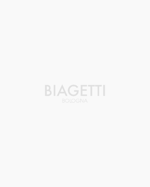 Maglia bianca girocollo in lana merinos  micro costa inglese collo rullino