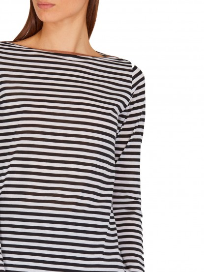T-Shirt a righe nere