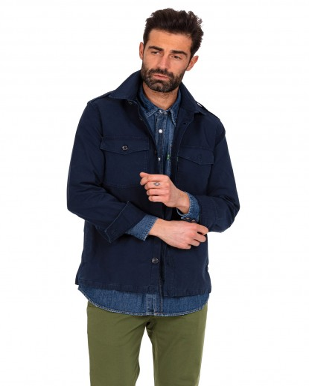 Camicia over blu chiaro