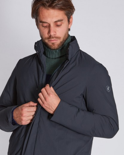 THIERRY ,Cappotto in Poliester Dull opaco, imbottitura Plumtech blu black