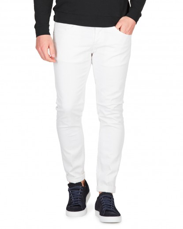 Jeans George in bull denim bianco