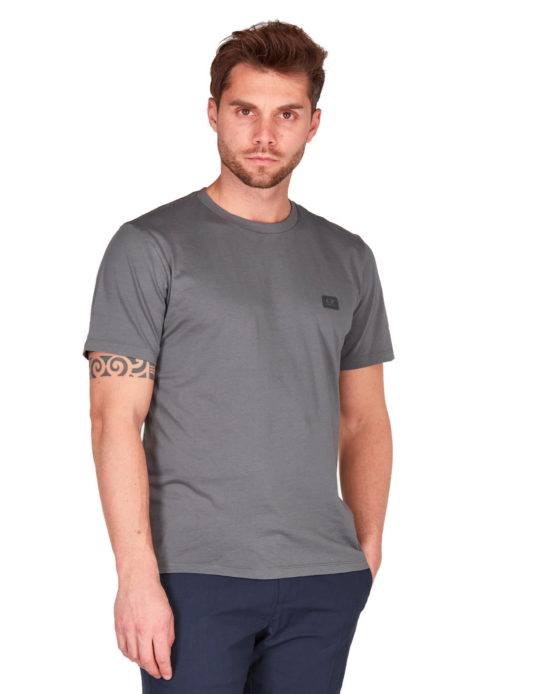 C.P.Company - T shirt color piombo manica corta logo piccolo gommato - E9021 - 10CMTS063A005100W-938