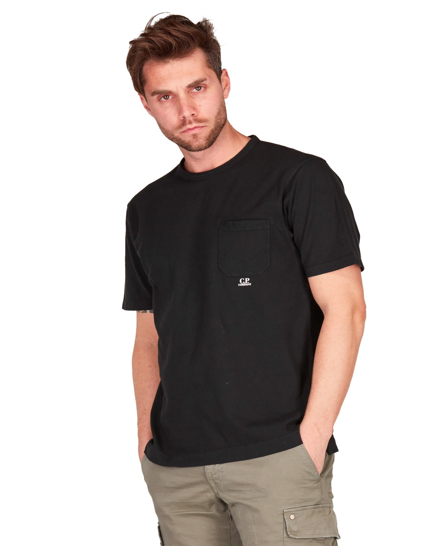 C.P.Company - T shirt manica cortatinto capo nera con taschino - E9021 - 10CMTS244A006057O-999