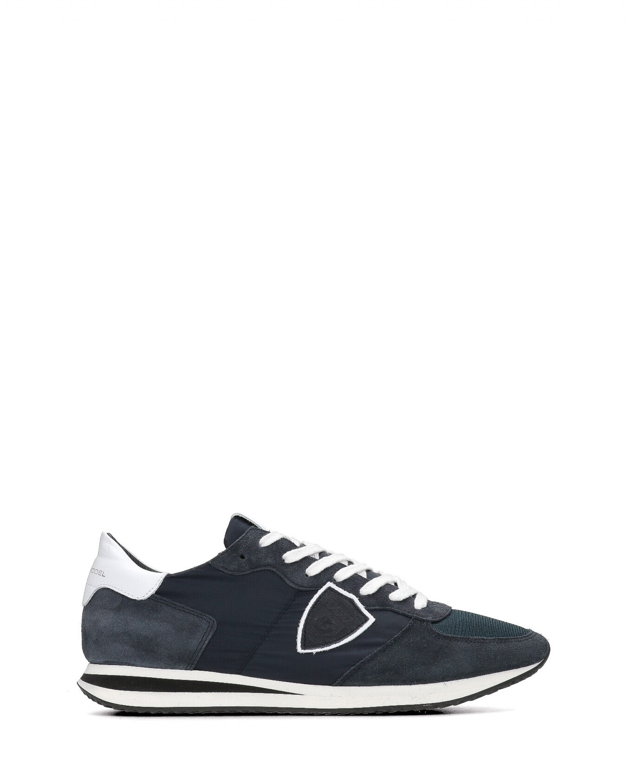 Philippe Model - Tropez suede e nylon blu - E9021 - TZLU-BASIC-2117