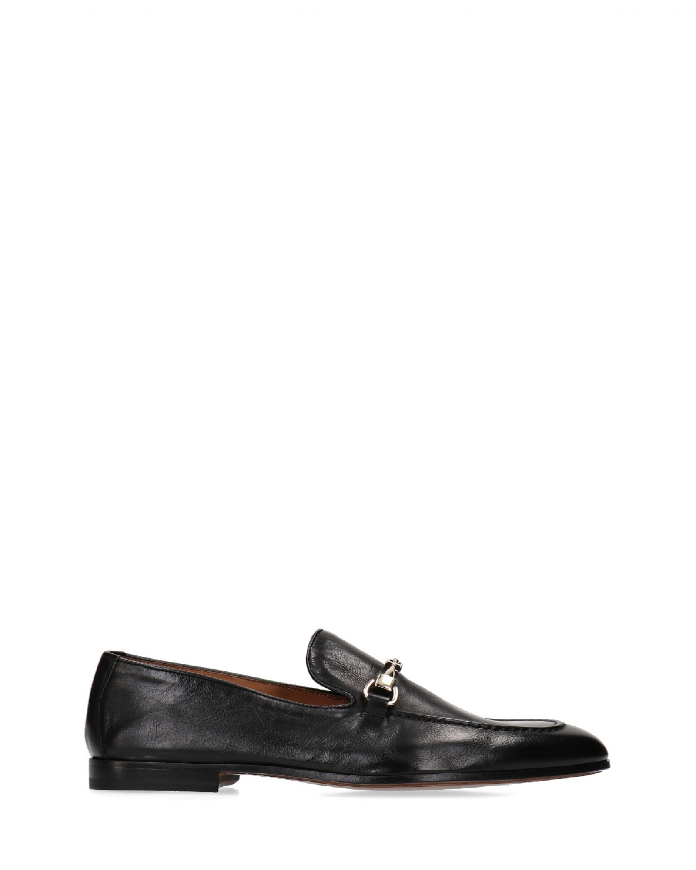 Doucal's - Mocassino con morsetto in cuoio anticato nero fondo cuoio - E9021 - DU1939CAPRUFO36-CHETTA-NN00