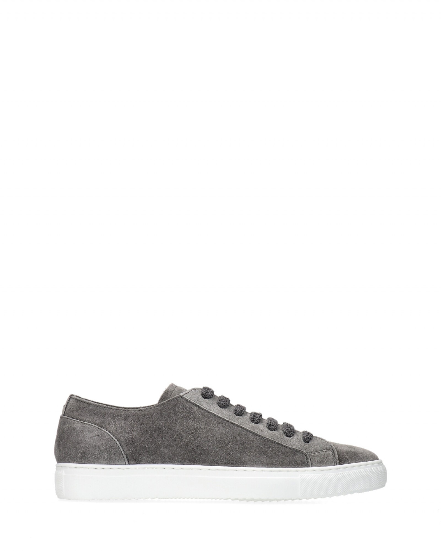 Doucal's - Sneaker stringata in suede con fondo cassetta gomma bianca - E9021 - DU2335ERICUZ106-WASH-IN22