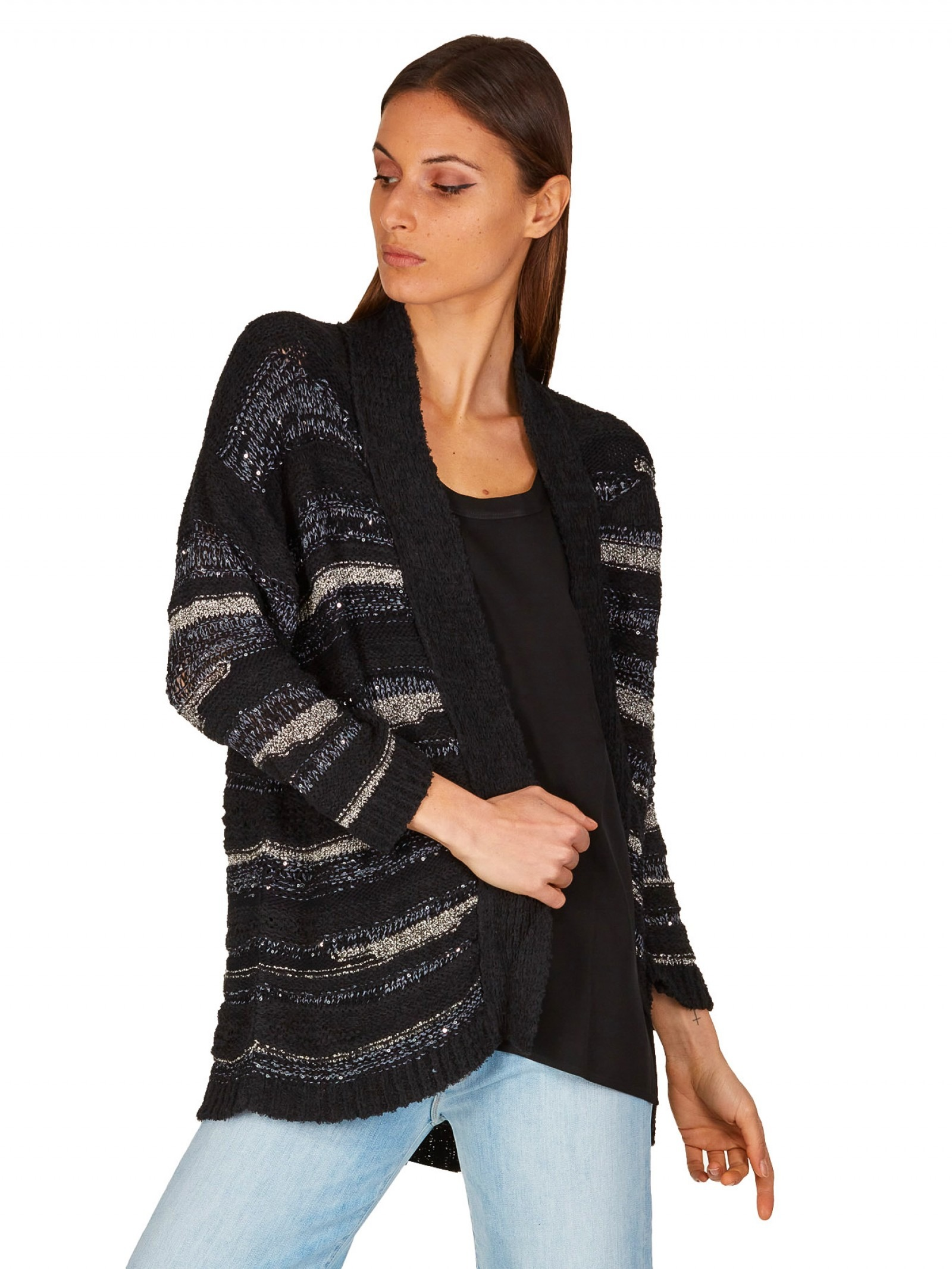 8pm - Cardigan con paillettes - E9021 - HOLLYWOOD-009