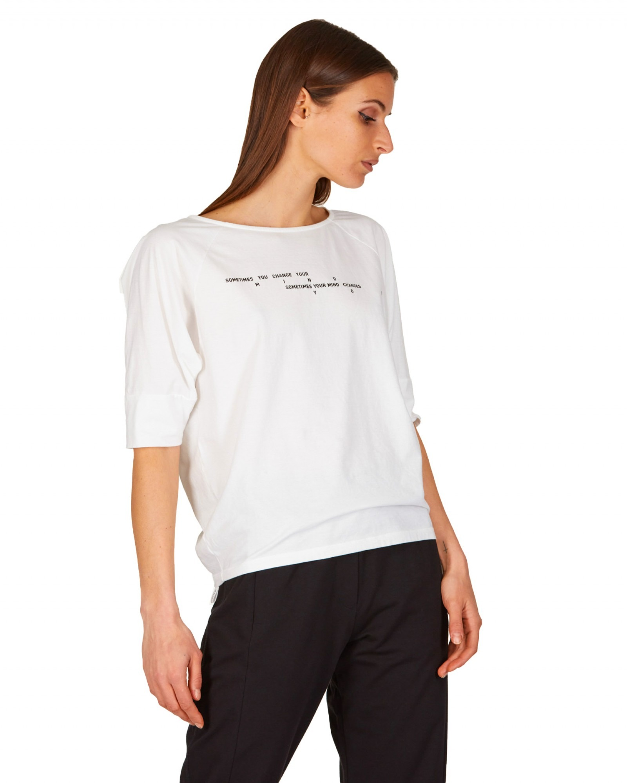 Noumeno Concept - T-shirt con scollo a barca - E9021 - T23-60070-002