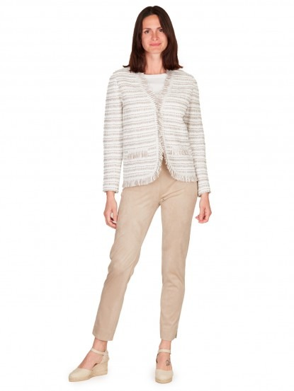 Pantalone in eco suede beige