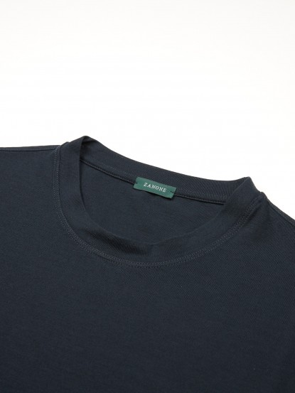 T-shirt in ice cotton blu