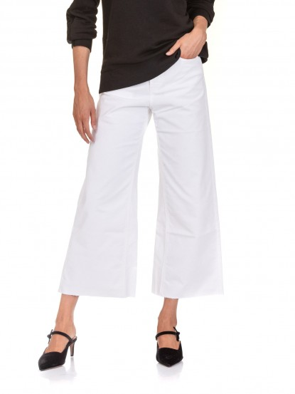 Jeans in velluto bianco