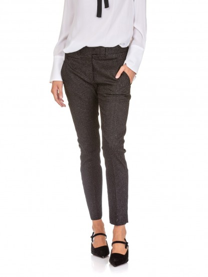 Jeans Perfect cotone Lurex Nero