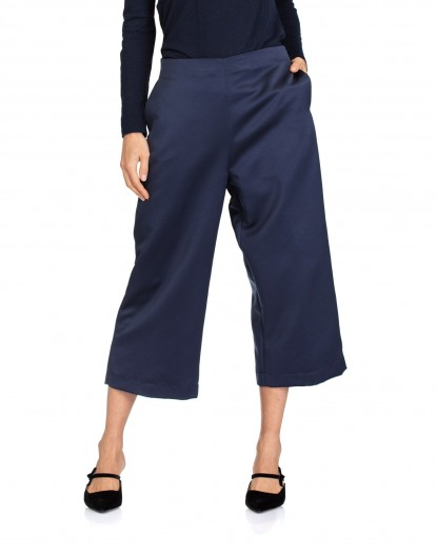 Pantaloni in raso blu