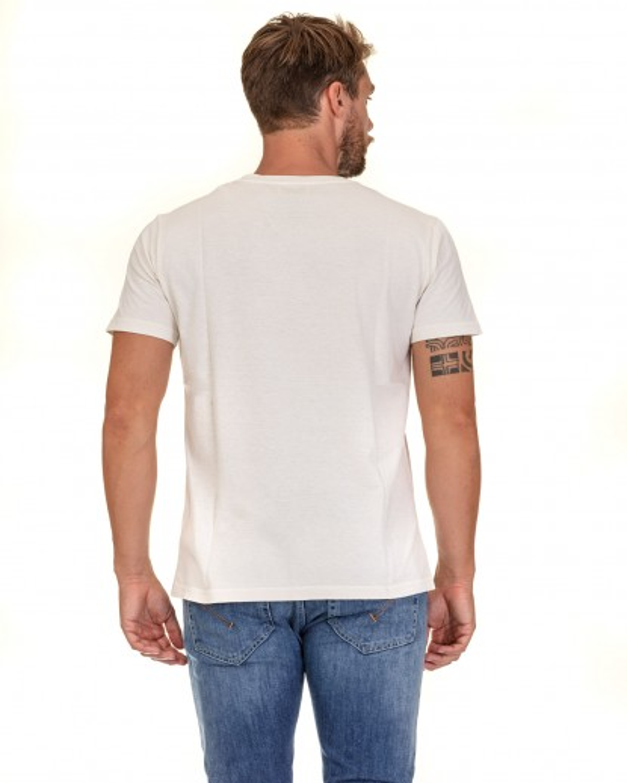T-shirt in jersey di cotone bianca